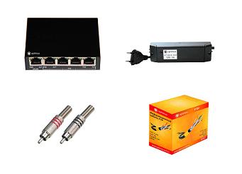 аксессуары и материалы для систем видеонаблюдения цены